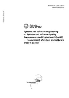 AS ISO/IEC 25023:2019