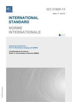 IEC 61869-13 Ed. 1.0 b:2021