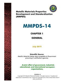 MMPDS MMPDS-14 Chapter 1