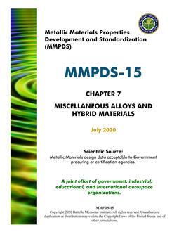 MMPDS MMPDS-15 Chapter 7